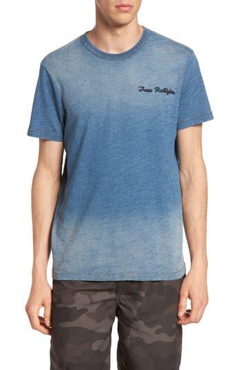 True Religion Brand Jeans Eagle Shadow T-Shirt, Blue