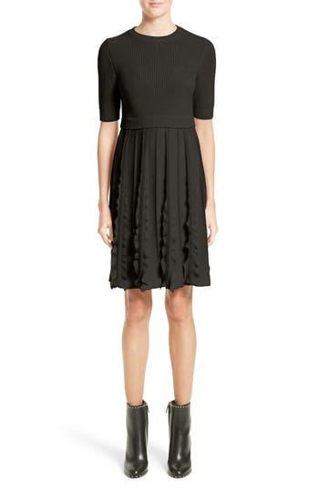 Valentino Virgin Wool Knit Dress, Black