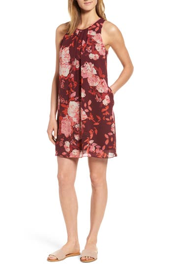 Kut From The Kloth Sela Cutout Floral Shift Dress, Red