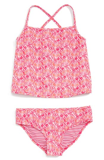 Girl's Vineyard Vines Reversible Two-Piece Swimsuit