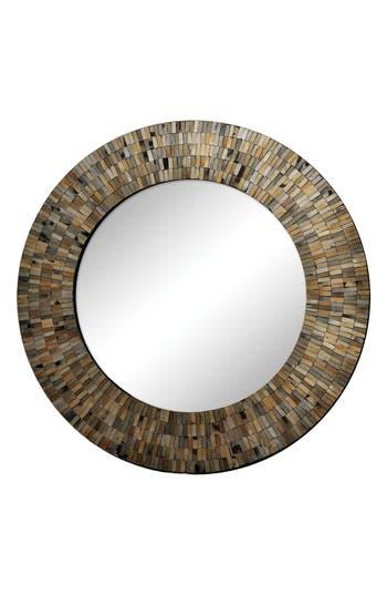Renwil Aventurine Round Mirror, Size One Size - Black