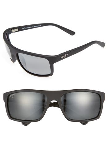 Maui Jim Byron Bay 62Mm Polarized Sunglasses - Matte Black/ Neutral Grey