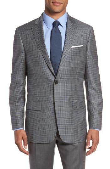 Hart Schaffner Marx Classic Fit Check Wool Sport Coat, Grey
