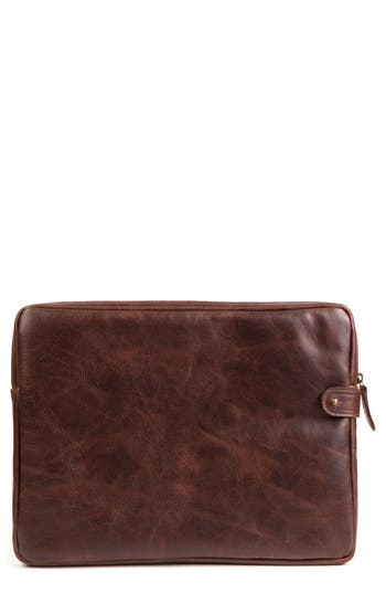 Moore & Giles Leather Tech Pocket - Brown