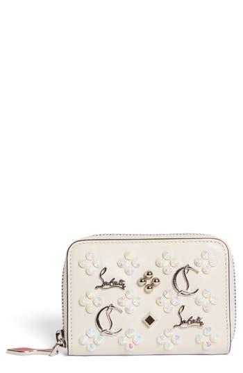 Women's Christian Louboutin Panettone Calfskin Leather Coin Purse -
