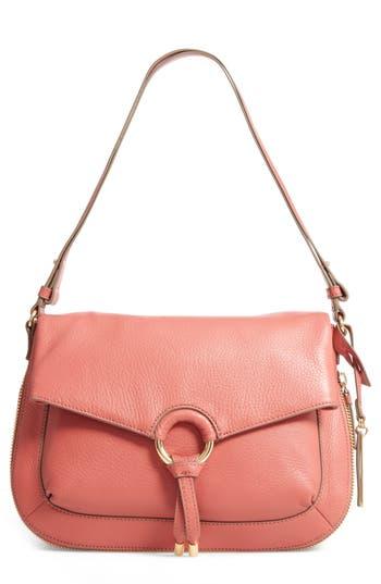 Vince Camuto Adina Leather Shoulder/crossbody Bag - Pink