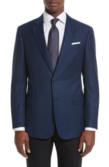 Armani Collezioni Trim Fit Check Wool Sport Coat