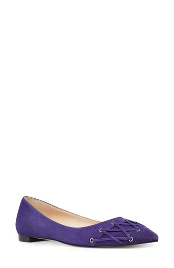 Nine West Alyssum Corset Skimmer Flat- Purple
