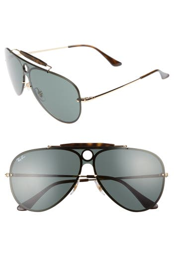 Ray-Ban Blaze Shooter Shield Sunglasses - Gold/ Green