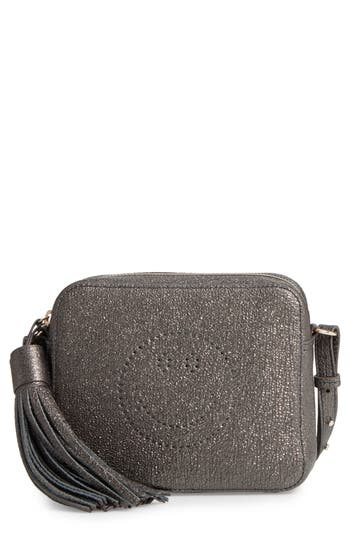 Anya Hindmarch Smiley Glitter Leather Crossbody Bag -