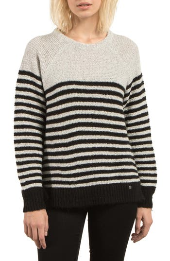 Volcom Cold Daze Stripe Sweater, Ivory