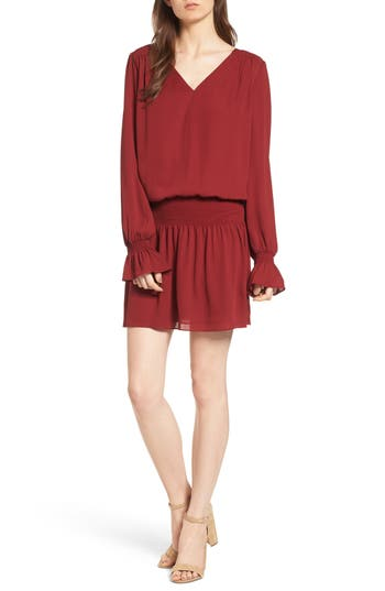 Chelsea28 Drop Waist Dress, Red