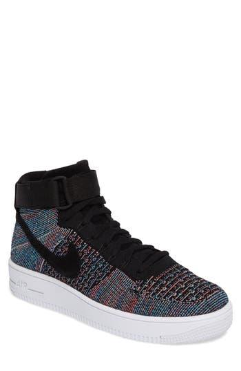 Nike Air Force 1 Ultra Flyknit Mid Sneaker, Blue