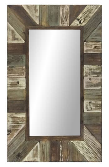 Crystal Art Gallery Multicolor Wood Wall Mirror, Size One Size - Brown
