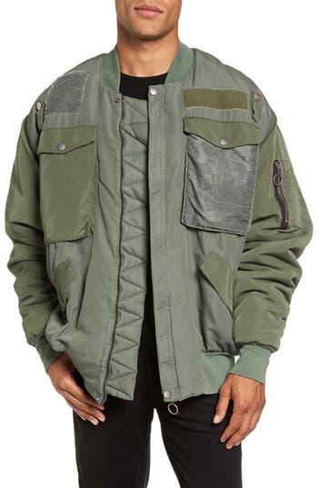 Hudson Jeans Echo Oversize Bomber Jacket, Green