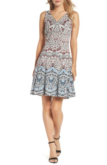 Maggy London Fit & Flare Dress, Blue