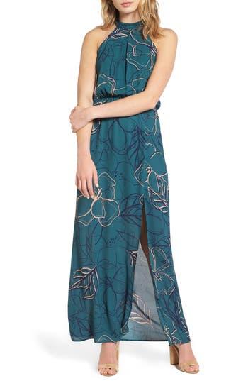 Everly High Neck Maxi Dress, Green