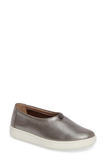 Eileen Fisher Sydney Leather Sneaker- Metallic