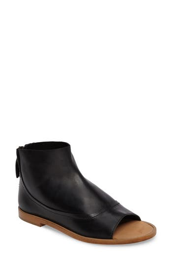Kelsi Dagger Brooklyn Carter Open Toe Bootie- Black