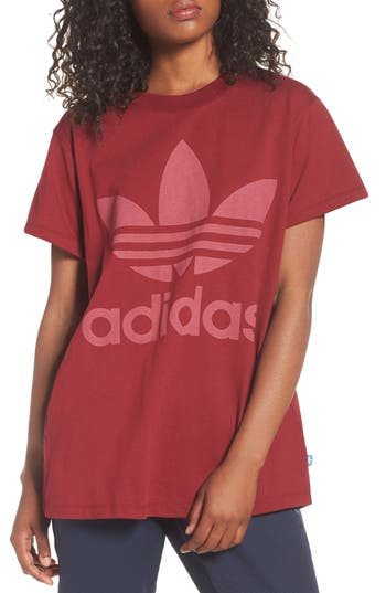 Adidas Originals Trefoil Logo Tee, Red