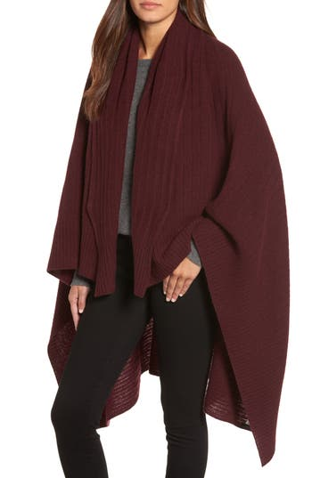 Women's Halogen Cashmere Wrap, Size One Size - Burgundy
