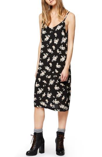 Women's Sanctuary Sydney Floral Slipdress, Size Small - Black
