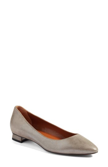 Aquatalia Perla Weatherproof Ballerina Shoe, Beige