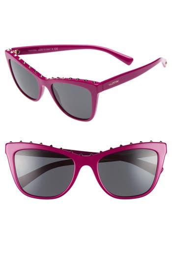 Valentino Rockstud 5m Cat Eye Sunglasses - Fuchsia