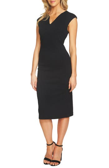 Women's Cece Paisley Jacquard Sheath Dress, Size 0 - Black