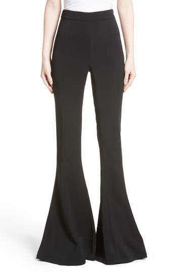 Cushnie Et Ochs Naomi High Waist Flare Pants, Black