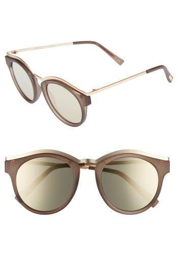 Le Specs Hypnotize 50Mm Round Sunglasses - Matte Pebble