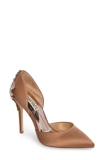 Badgley Mischka Karma Embellished Pump, Beige