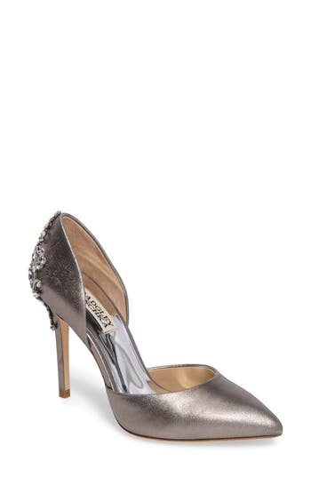 Badgley Mischka Karma Ii Embellished Pump- Metallic