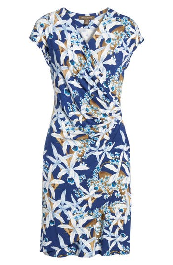 Tommy Bahama Orchid You Not Faux Wrap Dress, Blue
