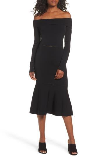 Cooper St Teria Off The Shoulder Dress, Black