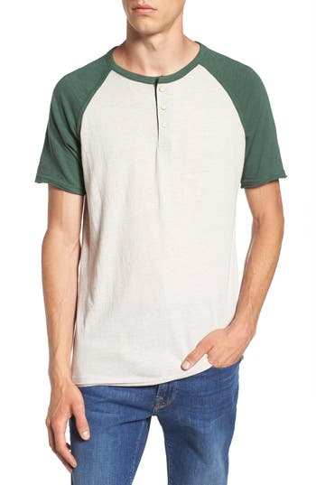 Lucky Brand Colorblock Henley T-Shirt, Green