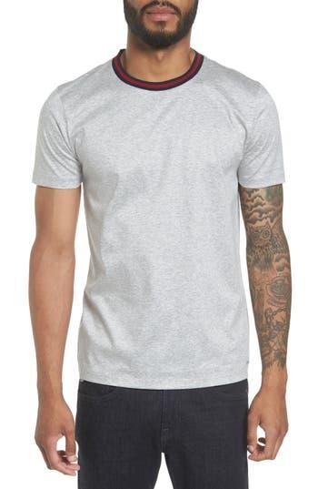 Boss Hugo Boss Tessler Slim Fit Ringer Neck T-Shirt, Grey