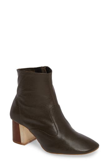 Jeffrey Campbell Kovacs Flared Heel Bootie, Brown