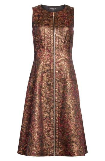 Lafayette 148 New York Celinda Metallic Jacquard Dress, Metallic