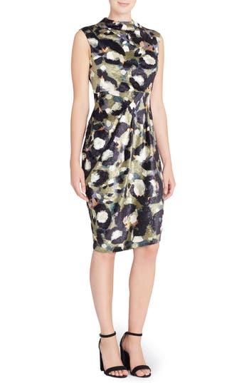 Catherine Catherine Malandrino Arlene Floral Jacquard Sheath Dress, Green