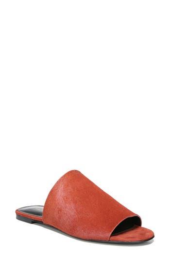 Via Spiga Heather 2 Genuine Calf Hair Slide Sandal, Red