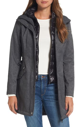 Women's Guess Anorak With Detachable Hooded Vest