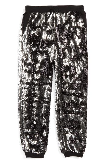 Girl's Milly Minis Sequin Jogger Pants