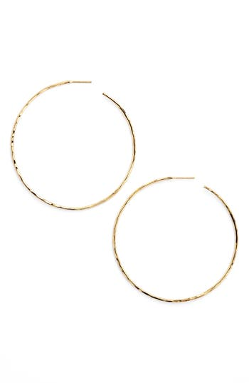 Women's Argento Vivo Hammered Hoop Earrings