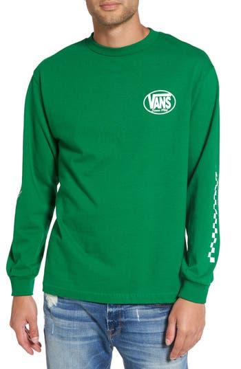 Vans Oval All Long-Sleeve T-Shirt, Green