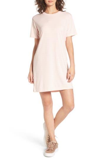 Cotton Emporium Stripe T-Shirt Dress, Pink