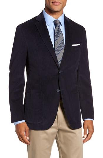 Jkt New York Trim Fit Stretch Cotton Corduroy Sport Coat Blue