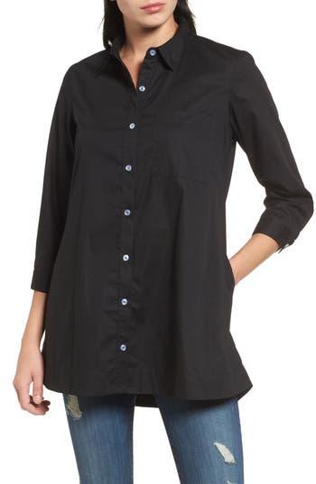 Women's Bobeau Poplin Shirt, Size X-Small - Black