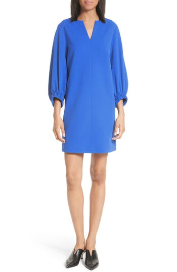 Tibi Stretch Crepe Shift Dress, Blue