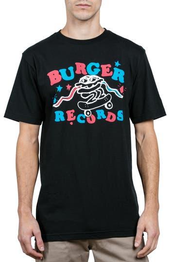 Volcom X Burger Records T-Shirt, Black